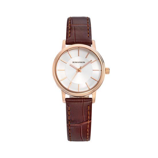 [로만손] 트래디셔널 여성 가죽 시계 (RWTLLL9A4259RGCR0)