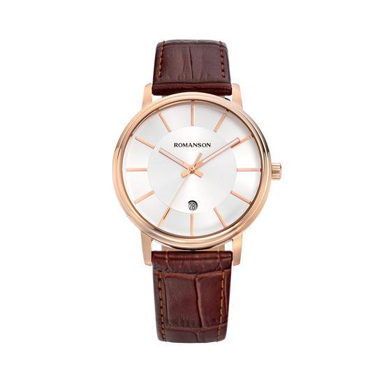 [수능시계] 로만손 트래디셔널 남성 가죽 시계 (RWTLMM9A4259RGCR0)