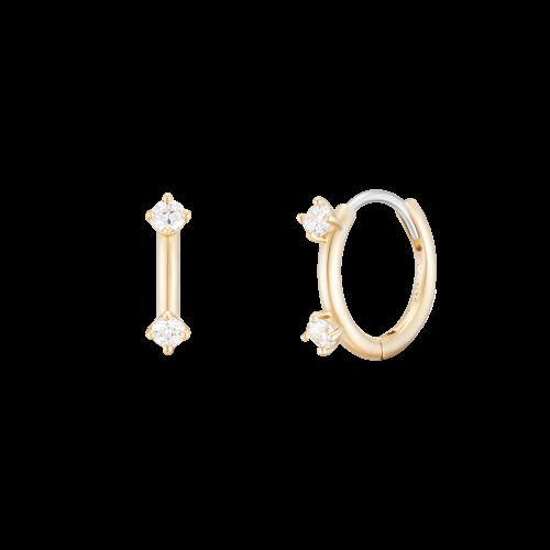 [패밀리세일] [시즌오프] [CONTE] Signature Hoop 귀걸이 (JJCEEQ0BF557SY000)