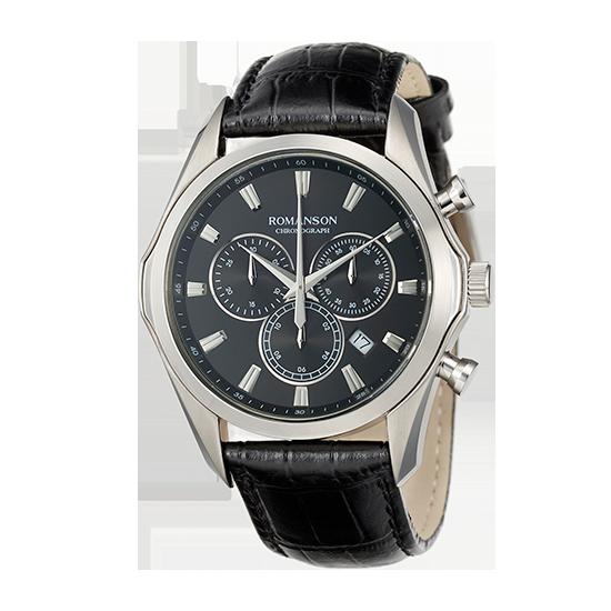 [라스트피스] [로만손] 남성 가죽 시계 (RWTLHM6A3500WHBK0)