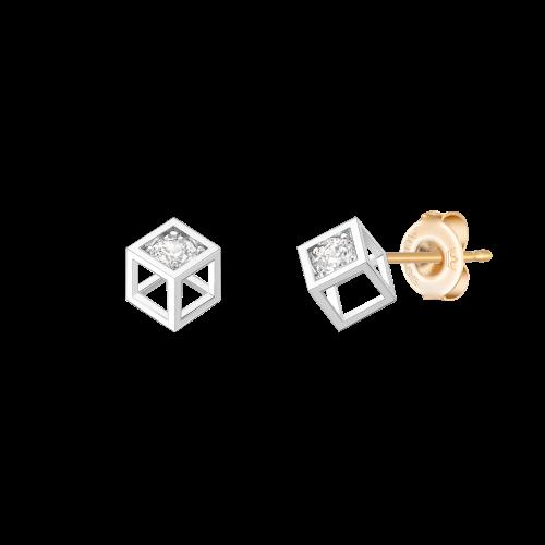 [당일발송] [아이유착장] MARIEBEL 14K 큐브 귀걸이 (JJMBEQ0BF471W4000)