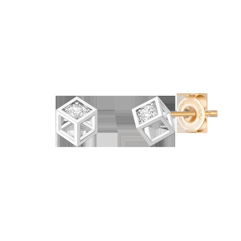 [김연아/아이유착장] MARIEBEL 14K 큐브 귀걸이 (JJMBEQ0BF471W4000)