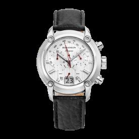 [로만손] 프리미엄 크로노그래프 남성 가죽 시계 (RWPBHM9A1219WHSI0)
