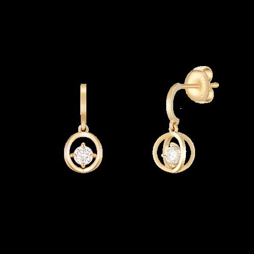 MARIEBEL 14K 다이아몬드 귀걸이 (JJMBED0BF461Y4000)