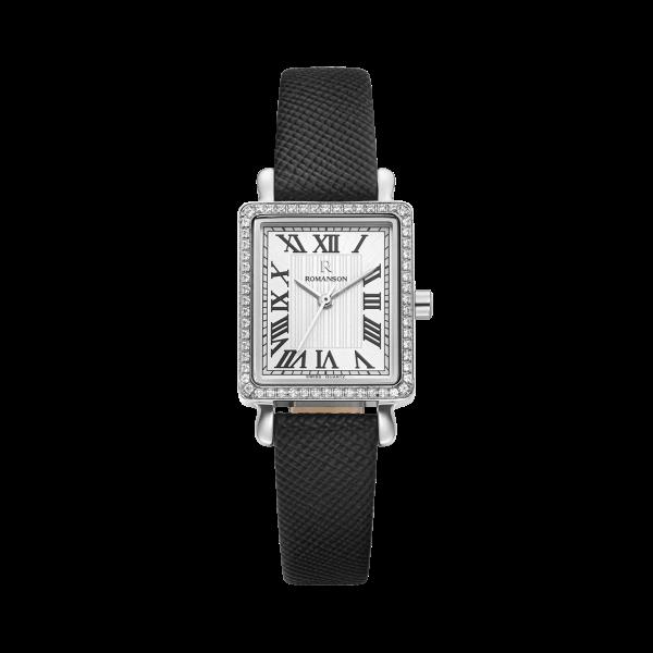 [로만손] R 레나타 스퀘어 여성 가죽 시계 (RWRLQL0B2100WHSI0)
