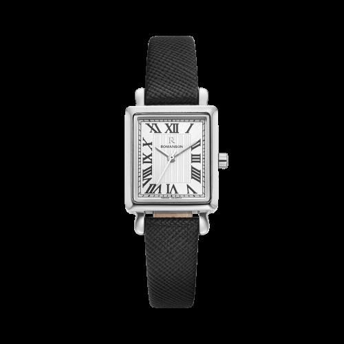 [로만손] R 레나타 스퀘어 여성 가죽 시계 (RWRLLL0B2100WHSI0)