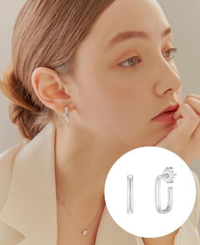 [CONTE] Square hoop 귀걸이 (JJCEE01BS412SW000)
