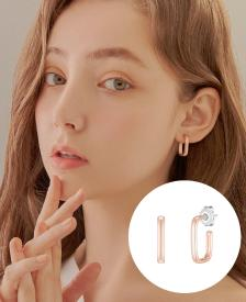 [CONTE] Square hoop 귀걸이 (JJCEE01BS413SR000)