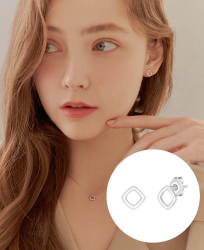 [CONTE] Carré 귀걸이 (JJCEE01BS419SW000)