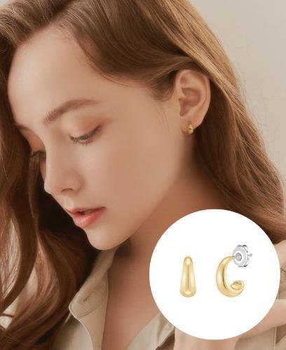 [CONTE] Petit Lune 귀걸이 (JJCEE01BS411SY000)
