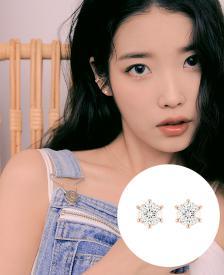 [아이유PICK] WHITEMOND 14K 귀걸이 (JJMBEQ1BS502R4000)
