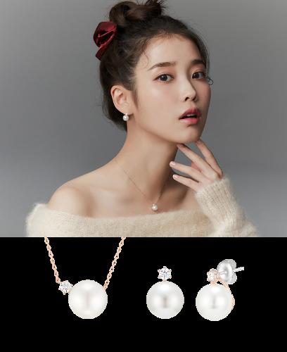 [아이유PICK] 레이디펄 목걸이+귀걸이 세트 (SET-J0-1083)