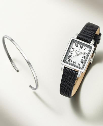 [콘테팔찌 증정] R 레나타 스퀘어 여성 가죽 시계 (SET-R0-LL0B2100WH)