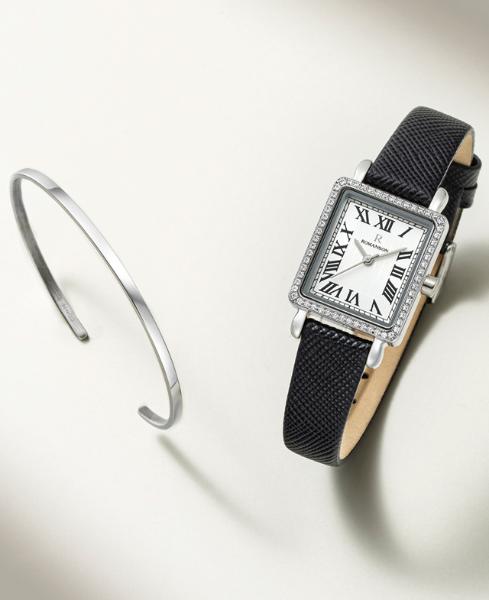 [콘테팔찌 증정] R 레나타 스퀘어 여성 가죽 시계 (SET-R0-QL0B2100WH)