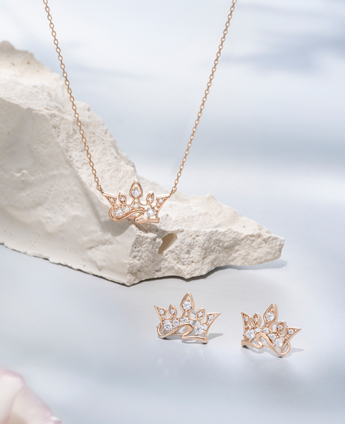 Bellissima Tiara 목걸이+귀걸이 세트 (SET-J0-1090)
