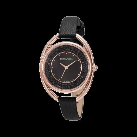 [로만손] 여성 가죽 시계 (RWRLLL1B0100RGBK0)