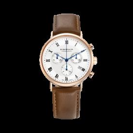 [로만손] 남성 크로노그래프 가죽 시계 (RWTLHM1B2400RGSI0)