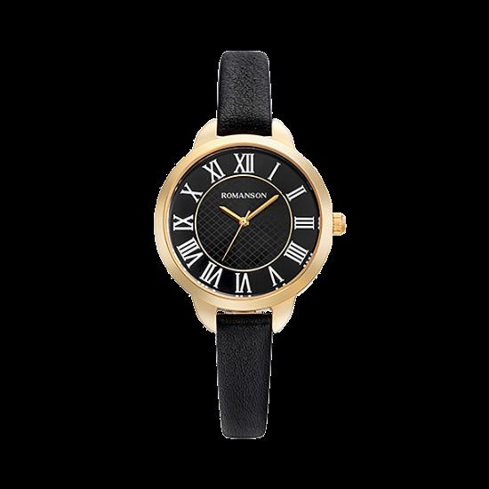 [로만손] 여성 가죽 시계 (RWRLLL0B0500GOBK0)