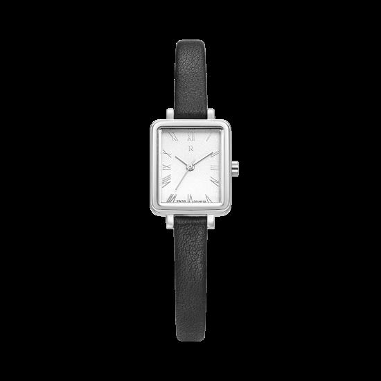[로만손] R 레나타 슬림 스퀘어 여성 가죽시계 (RWRLLL1B1000WHSI0)