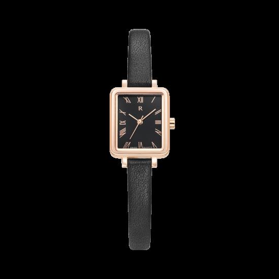 [로만손] R 레나타 슬림 스퀘어 여성 가죽시계 (RWRLLL1B1000RGBK0)
