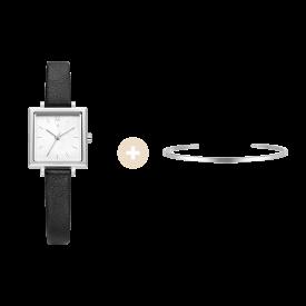 [콘테팔찌 증정] R 레나타 스퀘어 여성 가죽시계 (SET-R0-LL1B1200WH)